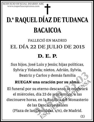 Raquel Díaz de Tudanca y Bacaicoa